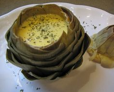 Artichokes with Hollandaise Sauce from the Art of French Cooking from Julia Child.