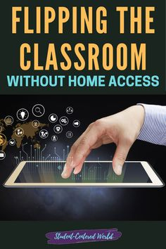 Flipping the classroom will change everything you know about education and finding ways to help students access that information outside of your classroom will benefit everyone in the long run. However, many teachers are unwilling to try this because of the lack of access to technology on behalf of their students. Where there's a will there's a way, and students not having access to technology should not be a reason to feel that flipping the classroom is impossible.