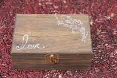 Love Ring Bearer Box- but maybe a small chest? or should the maid of honor and best man hold them?