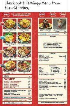 Vintage Restaurant, Menu Restaurant, Baby Food Recipes, Snack Recipes, Snacks, 70s Food, Vintage Menu, Vintage Stuff, Vintage Ads