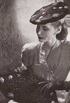Vintage 1940's Beret Hat & Clutch Purse Crochet Patterns
