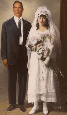 1920 Wedding Couple