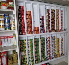 DIY Rotating Canned Food System   The Owner-Builder Network  this is really clever.