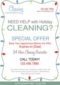 Holiday Cleaning Business Flyer Cleaning Business Flyers