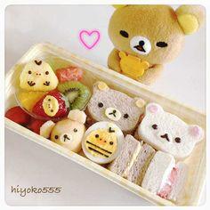 サンドイッチお弁当。100枚目(^^)♥ Bento