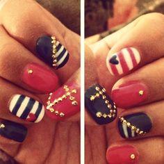 nautical nail art