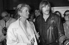 Catherine Deneuve et Gérard Depardieu lors de la présentation du film « Fort Saganne », réalisé par Alain Corneau le 11 mai 1984.