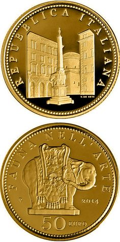N♡T.50 euro: Fauna in the Art: Baroque.Country: Italy Mintage year: 2014 Issue date: 25.03.2014 Face value: 50 euro Diameter: 28.00 mm Weight: 16.12 g Alloy: Gold Quality: Proof