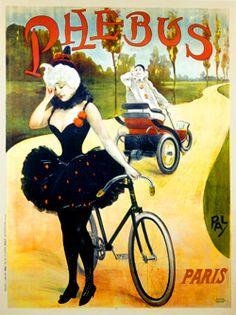 AFFICHES ANCIENNES SUR LA BICYCLETTE ET LE CYCLISME - Phebus