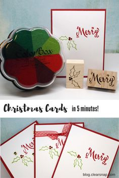 Christmas Cards in 5 Minutes with Clearsnap® Pigment Inks, Jenn Shurkus