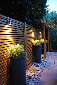 The Landscape Design Studio Ltd — Pictures of a recent terrace designed and. Modern Backyard, Backyard Garden Design, Backyard Fences, Modern Landscaping, Backyard Landscaping, Terrace Design, Patio Design, Modern Fence Design, Privacy Fence Designs