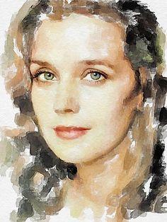 Russian actress Irina Alfyorova, digital watercolor by Vitaly Shchukin