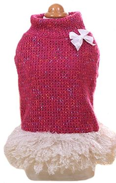 MaruPet Classical Autumn/Winter Two-leg TurtleNeck Kintted Sweatershirt Sweater Tuntu Vest with Bowknit for Teddy, Chihuahua, Shih Tzu, Yorkshire Terriers, MalteseDog *** Don't get left behind, see this great cat product   Christmas Presents for Cats