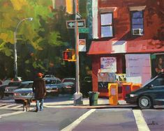 """Daily Paintworks - """"The Guy Walk"""" by Patti Mollica"""