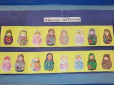 matroesjka's : leuk om te kleuren in het kader van de olympische winterspelen in sochi Om, Planter Pots, Sport, Drawing, School, Dyes, Olympic Games, Matryoshka Doll, Winter