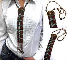Схемы кулонов и бисерные галстуки. - своими руками
