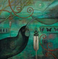 Check out Huia by Kathryn Furniss at New Zealand Fine Prints New Zealand Art, Nz Art, Kiwiana, Wall Art For Sale, Bird Prints, Artist Painting, Canvas Artwork, Bird Art, Contemporary Artists