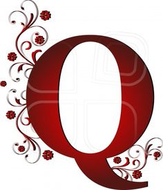 capital letter Q red, abstract, alphabet, alphabetic