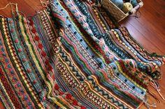 Mixed Stitch Stripey Blanket pattern by Julie Harrison Form Crochet, Knit Or Crochet, Crochet Granny, Crochet Crafts, Crochet Stitches, Crochet Projects, Crotchet Patterns, Crochet Blanket Patterns, Crotchet Blanket