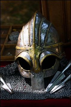 Viking Helmet by bakabobo on deviantART For more Viking facts please follow and check out www.vikingfacts.com don't forget to support and follow the original Pinner/creator. Thx