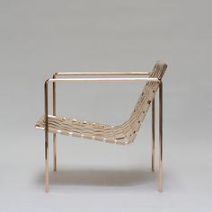Eric Trine Rod+Weave Chair - Copper Frame