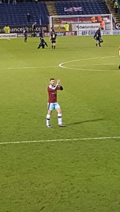 Jones claps us fans in the Jimmy Mac stand at the final whistle. Clarets v Nottingham Forest Burnley Fc, Nottingham Forest, Four Square, Mac, Football, Club, Soccer, Futbol, American Football