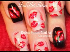 Welcome to my nail art channel! a fun place for diy nail art designs filled with nail art tutorials + learning to use nail art tools to take your nai. New Nail Art, Nail Art Diy, Easy Nail Art, Easy Art, Nail Art Designs, Nail Designs Pictures, Valentine Nail Art, Holiday Nail Art, Kiss Nails