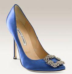 Manolo Blahnik Something Blue Shoes