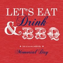 Eat, Drink, BBQ invites by PurpleTrail