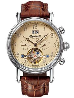 Click Image Above To Purchase: Ingersoll Mens Richmond Stainless Watch - Brown Leather Strap - Gold Dial - Ingersoll Watches, Theodore Roosevelt, Brown Band, Cool Sunglasses, Mahatma Gandhi, James Dean, Fashion Watches, Men's Watches, Luxury Watches For Men