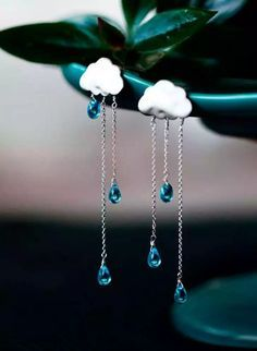 #Raining #Clouds #Nubes #Lluvia #earrings