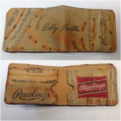 b94465ac50b Repurposed Baseball Glove Wallet by Salt River Leather on Etsy Leather  Gloves