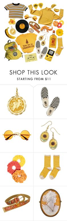 """""""gemini"""" by catevie ❤ liked on Polyvore featuring Kevin Jewelers, Vans, Retrò, NamJosh and Hansel from Basel"""
