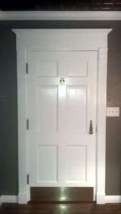 Finished front door with tin ceiling installed. Crown molding and baseboard a also installed. & Baseboard Styles Inspiration Ideas For Your Home   Modern baseboards ...