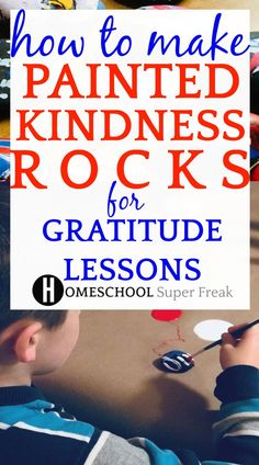 How To Make Painted Kindness Rocks for Gratitude Lessons. This is a FUN way to teach about how to be kind and grateful! Homeschool Supplies, Homeschooling Resources, Books About Kindness, Easy Art For Kids, Kindness Activities, Earth Day Activities, Painted Rocks Kids, Bible Lessons For Kids, Preschool Lesson Plans