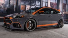 A modified Ford Focus RS on display at Sema 2016.