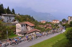 Gallery: 2014 #IlLombardia, The Race of the Falling Leaves - The peloton rolls through Bellagio. Photo: Tim De Waele | TDWsport.com