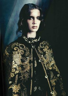 Vogue-Italia-October-Issue-2012-with- Marine-Vacht-in-Dolce-Gabbana-FW-2013-cape
