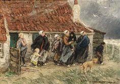 WAITING FOR THE RETURN (NEAR 'THE MEELZAK', KATWIJK AAN ZEE) By Jan Zoetelief Tromp