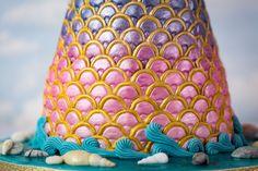 Mermaid Tail Cake - Karen Davies Sugarcraft. Mermaid Scales Mould - Karen Davies Sugarcraft.