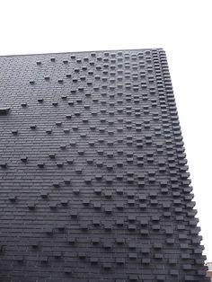 brick facade , Marc Koehler Architects, Amsterdam, ☮k☮ Detail Architecture, Brick Architecture, Amsterdam Architecture, Drawing Architecture, Architecture Portfolio, Brick Masonry, Brick Facade, Brick Wall, Brick Design