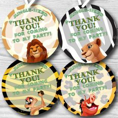 INSTANT DOWNLOAD Lion King Printable, Lion King Party, Lion King Party Favors, Lion King Gift Tag 2.5 inch by 105DesignHouse