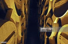 Photo d'actualité : Barrels of Pernod Ricard's Martell cognac sit at...