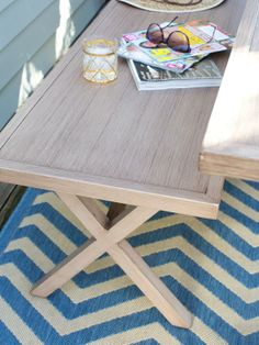 Rug in Spring House >> http://www.hgtv.com/outdoor-rooms/13-ways-to-transform-an-outdoor-dining-room-for-spring/pictures/index.html