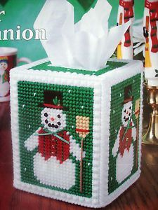 "Free Plastic Canvas Tissue Box | ... about ""WINTER COMPANION TISSUE BOX COVER""~*~PLAST IC CANVAS PATTERN"