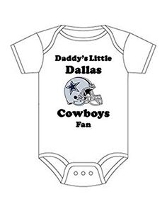 Dallas Cowboys Daddys Little Fan Shirt Infant Baby Onesie 36 Months month  03 Months    5c1fa0388