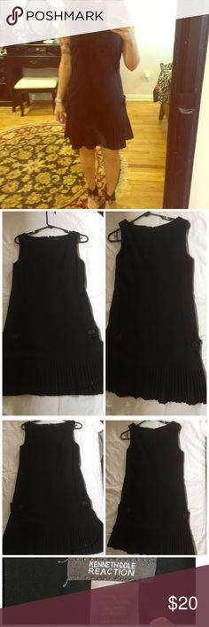 Kenneth Cole office attire dress Kenneth Cole, great condition, office attire dress, pleats and buttons towards the bottom. Darling look! Size 4 Dresses