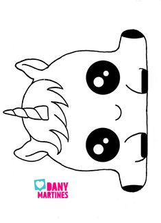 Kawaii Unicorn DIY 🦄 Pencil Case, Photo Wall and more! Cute Easy Drawings, Cute Kawaii Drawings, Cute Animal Drawings, Cartoon Drawings, Unicorn Drawing, Unicorn Art, Doodle Art, Doodles Kawaii, Cute Kawaii Girl