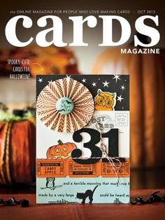 And...since I haven't yet posted this here, today seems like a good day to share my October Cards  cover:      This was a nice surprise - th...
