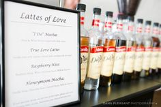 Wedding coffee bar from Espresso Elegance | Get Inspired...Weddings In Woodinville 2014! - Lucky in Love Wedding Planning Blog - Seattle Weddings at Banquetevent.com